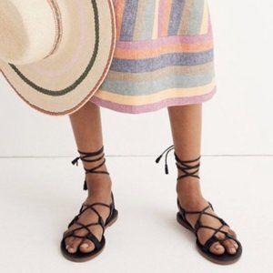 Madewell Boardwalk Gladiator Sandals Black 7.5